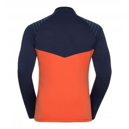 BLUZA ODLO PACT MAN 1/2 ZIP Navy / Orange