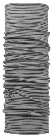BUFF MERINO WOOL LIGHT GREY STRIPES