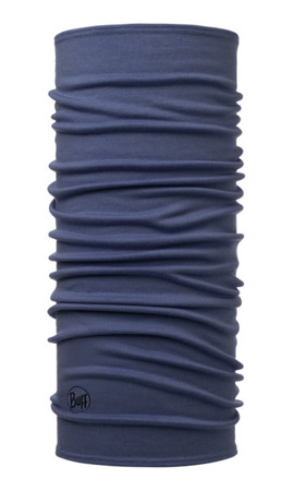 BUFF MERINO WOOL MIDWEIGHT SOLID ESTATE BLUE