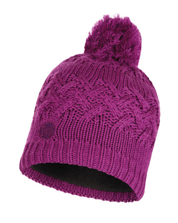 CZAPKA BUFF KNITTED & FULL POLAR HAT SAVVA MARDI GRAPE