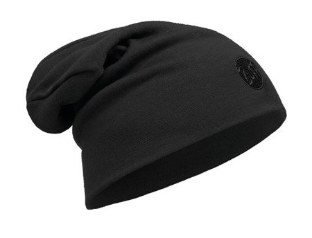 CZAPKA BUFF MERINO  HEAVYWEIGHT HAT SOLID BLACK