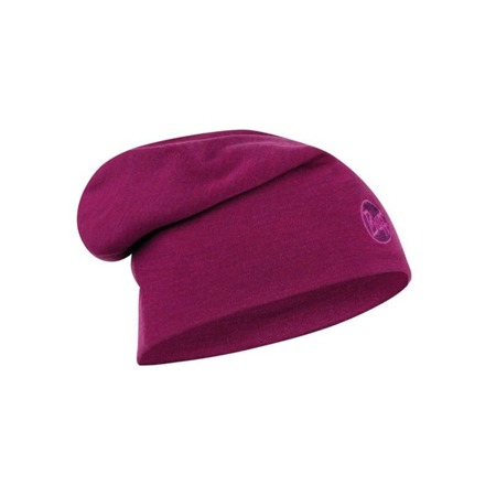 CZAPKA BUFF MERINO HEAVYWEIGHT HAT Solid Raspberry
