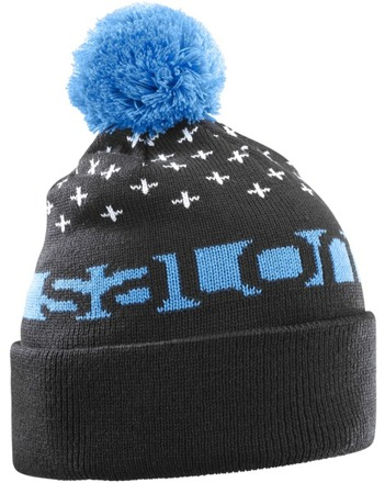 CZAPKA SALOMON 17/18 FREE BEANIE Black/Hawaiian