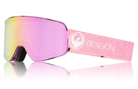 GOGLE DRAGON 17/18 NFX2 MILL Lumalens Pink Ion + Dark Smoke