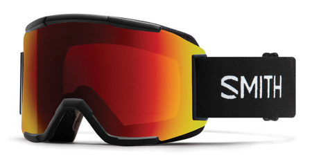 GOGLE SMITH SQUAD Black 9PC - Sun Red Mirror / Std. Yellow 2020