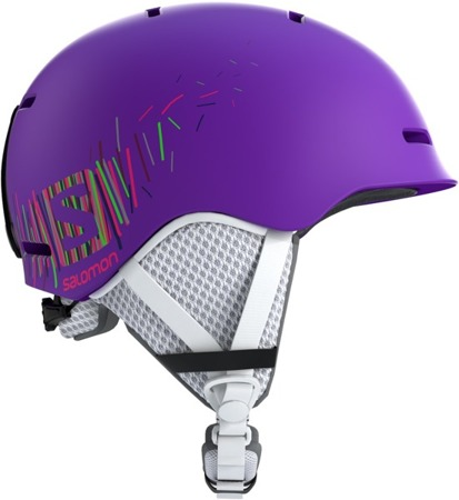 JUNIORSKI KASK SALOMON 18/19 GROM Purple Mat