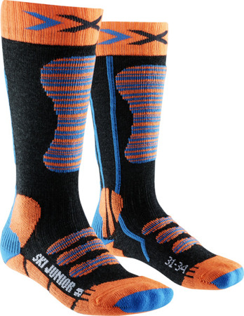 JUNIORSKIE SKARPETY NARCIARSKIE X-SOCKS SKI JUNIOR Blue / Orange