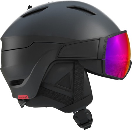 KASK NARCIARSKI SALOMON DRIVER Black/Red Accent / Solar 2020